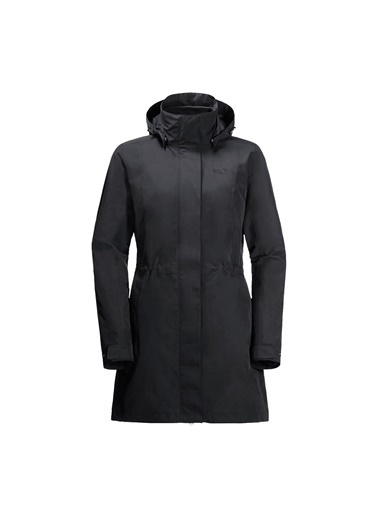 Jack Wolfskin Jack Wolfskın Ottawa Coat Kadın Outdoor Montu Siyah
